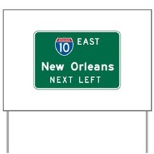 New Orleans, LA Highway Sign Yard Sign