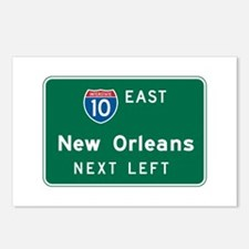 New Orleans, LA Highway Sign Postcards (Package of