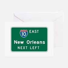 New Orleans, LA Highway Sign Greeting Cards (Pk of