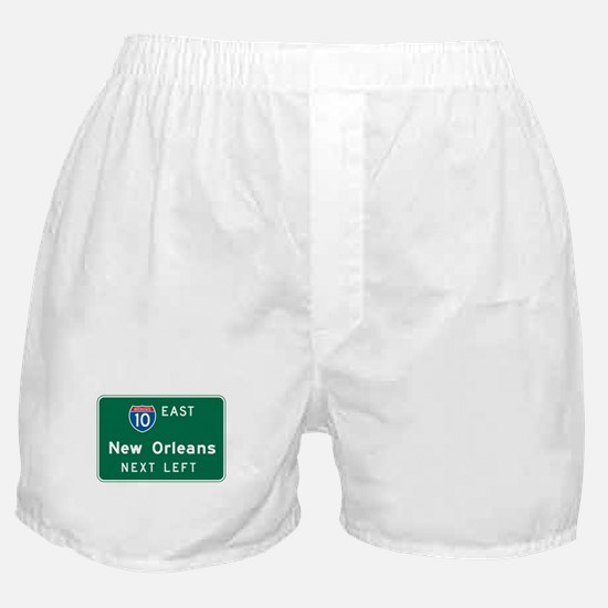 New Orleans, LA Highway Sign Boxer Shorts