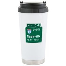 Nashville, TN Highway Sign Travel Mug