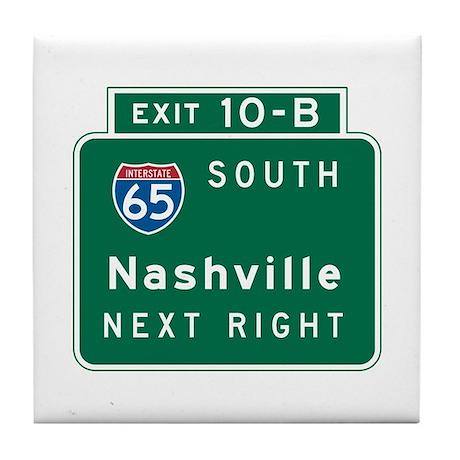 Nashville, TN Highway Sign Tile Coaster