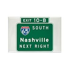 Nashville, TN Highway Sign Rectangle Magnet