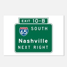 Nashville, TN Highway Sign Postcards (Package of 8