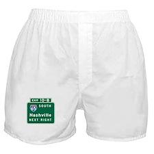 Nashville, TN Highway Sign Boxer Shorts
