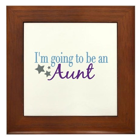 Going to be an Aunt Framed Tile