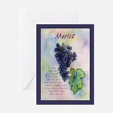 Merlot Wine Greeting Cards (Pk of 10)