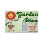 Garden Diva Rectangle Magnet
