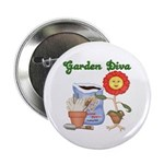 "Garden Diva 2.25"" Button (10 pack)"