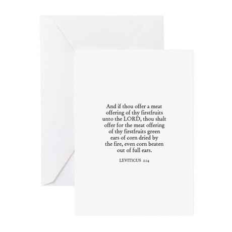 LEVITICUS 2:14 Greeting Cards (Pk of 10)
