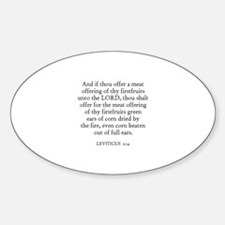 LEVITICUS 2:14 Oval Decal