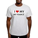 I Love My Fiancé Ash Grey T-Shirt
