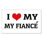 I Love My Fiancé Rectangle Sticker