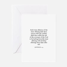 LEVITICUS  2:13 Greeting Cards (Pk of 10)