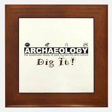 Archaeology, Dig It! Framed Tile