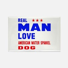 Real man love American Water Span Rectangle Magnet