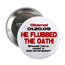 """He Flubbed The Oath! 2.25"""" Button"""