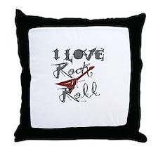 I Love Rock-n-Roll Throw Pillow