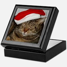 Christmas Cat Keepsake Box
