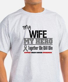 BrainCancerHero Wife T-Shirt