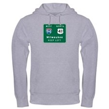 Milwaukee, WI Highway Sign Hoodie