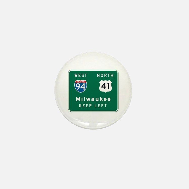 Milwaukee, WI Highway Sign Mini Button