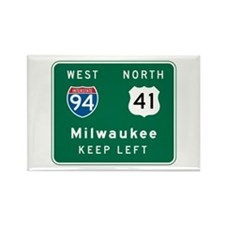 Milwaukee, WI Highway Sign Rectangle Magnet