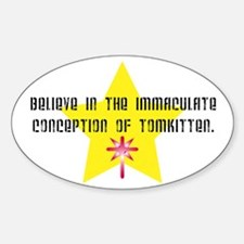Immaculate Conception of TomK Oval Decal