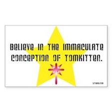 Immaculate Conception of TomK Sticker (Rectangular