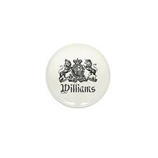 Williams Vintage Crest Family Name Mini Button (10