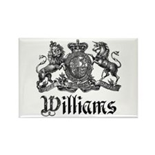 Williams Vintage Crest Family Name Rectangle Magne