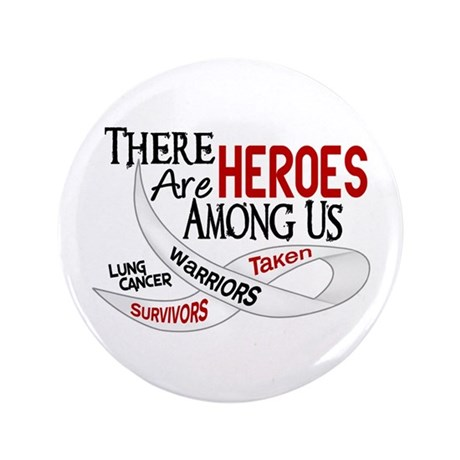 """Heroes Among Us BONE CANCER 3.5"""" Button (100 pack)"""