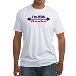 I'm With Geeks Fitted T-Shirt