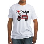 I Love Tractors Fitted T-Shirt
