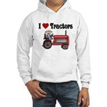 I Love Tractors Hooded Sweatshirt