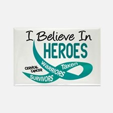 I Believe In Heroes CERVICAL CANCER Rectangle Magn