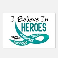 I Believe In Heroes CERVICAL CANCER Postcards (Pac
