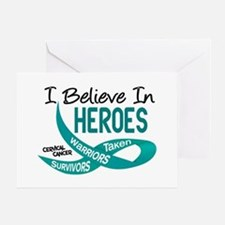 I Believe In Heroes CERVICAL CANCER Greeting Card