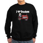 I Love Tractors Sweatshirt (dark)