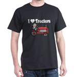 I Love Tractors Dark T-Shirt