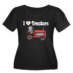 I Love Tractors Women's Plus Size Scoop Neck Dark