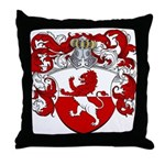 Van Hoven Coat of Arms Throw Pillow