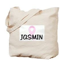 JASMIN pink ribbon Tote Bag
