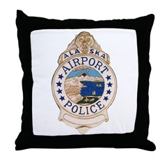 AK Airport Police Throw Pillow