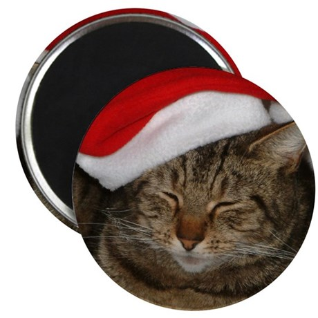 Christmas Cat Magnet