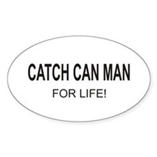 Catch Can Man Oval Decal