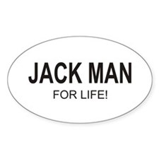 Jack Man Oval Decal