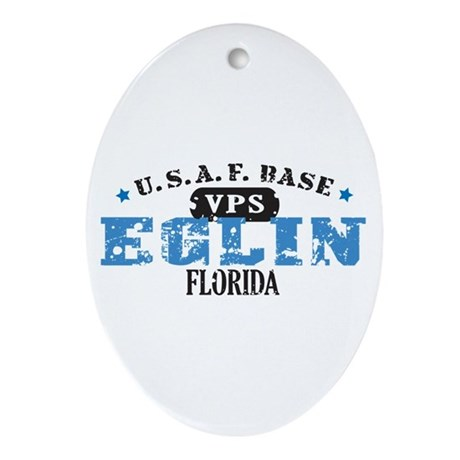 Eglin Air Force Base Oval Ornament