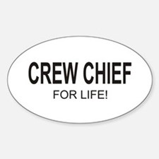 Crew Chief Oval Decal