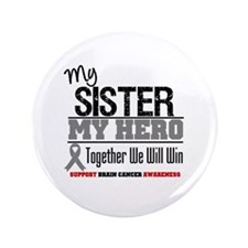 "BrainCancerHero Sister 3.5"" Button (100 pack)"